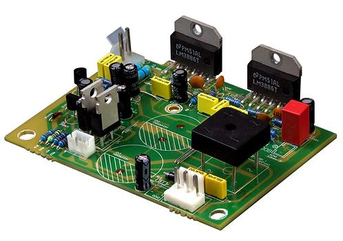 t200b采用双lm3886 btl放大电路