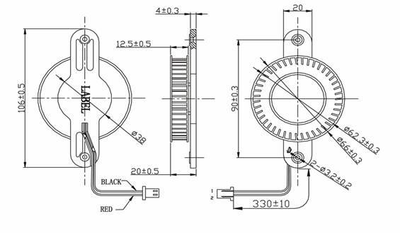 半导体冰箱风扇dd6620系列