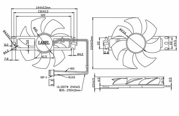 电磁炉散热风扇df11025